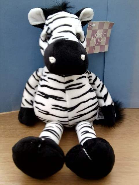 standard zebra soft toy by russ 13quot high
